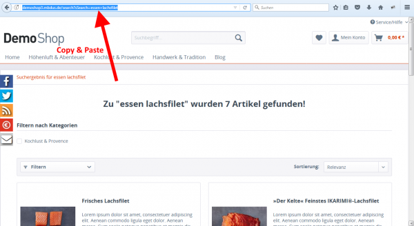 SEO Such und Filter Landingpages